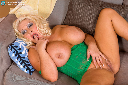 Blonde big boobs