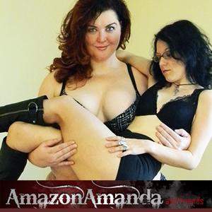 Tall amazon amanda playing with small girl