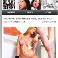 'Visit 'She Plays With Her Cock Mobile''