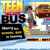 'Visit 'Teen Slut Bus''