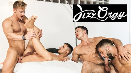 Hot gay orgy gets nasty
