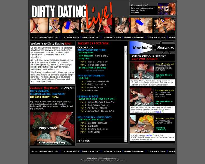 Join Dirty Dating Live