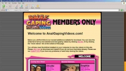 Preview #1 for 'Anal Gaping Videos'