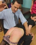 man slapping booty