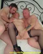 older woman goes wild with two men