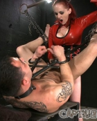 hot mistress looking down on slave
