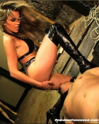 domme giving discipline to slave