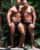muscled homosexual pair in undies