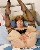 grandma wearing stockings