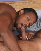 black guy sucking cock