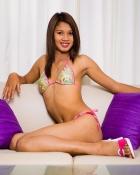 posing in bikini