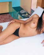 tranny topless in bed