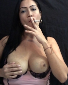 busty chick smoking