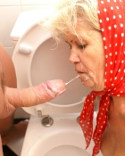 granny getting a facial
