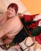 naked fat woman on a leash