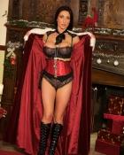 pretty seductress in sexy costume