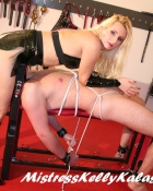 bondage babe gets down to business