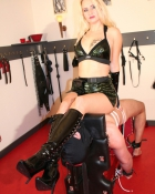 cool domina in her dungeon