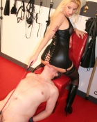 submissive undergoes discipline play