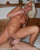 blondie pleasured by cock