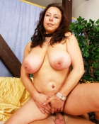 brunette with big saggy titties