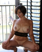 pretty gal with enormous titties
