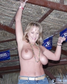 mature woman flaunting big tits