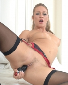 drilling ass with black dildo