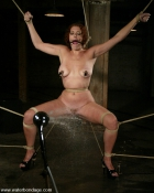 roped babe with ball gag