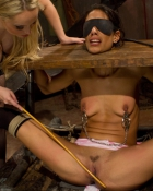 submissive babe bound and flogged